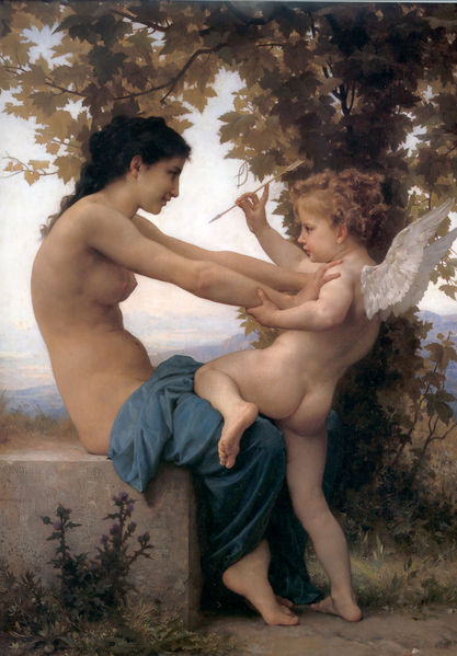 Eros (Muy interesante) 417px-william-adolphe_bouguereau_1825-1905_-_a_young_girl_defending_herself_against_eros_1880